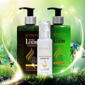Bộ Dầu gội - Dầu xả và dưỡng tóc thảo dược Herbal Luxury