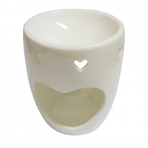 Đèn gốm nến trắng - Trái tim lớn (MS: 04)